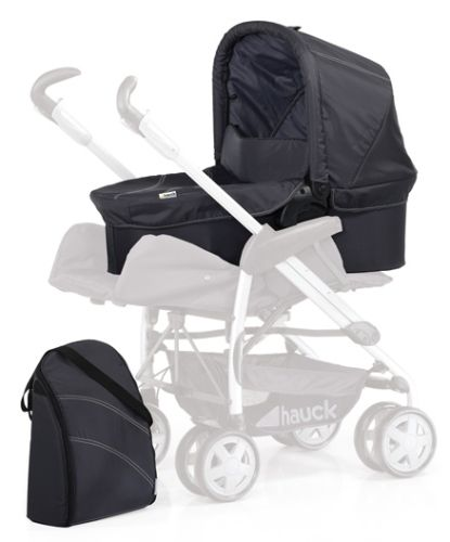 Hauck Pram And Changing Bag - Trio Charcoal