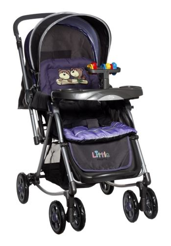 Little Hearts - Stroller cum Rocker (Purple)