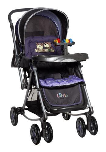 Little Hearts - Stroller cum Rocker (Purple)