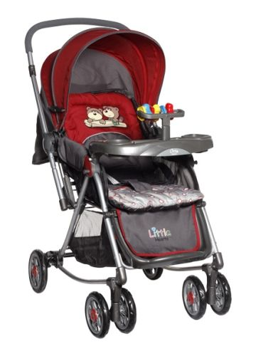 Little Hearts - Stroller cum Rocker (Red)