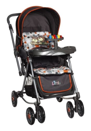 Little Hearts - Stroller cum Rocker(Orange)