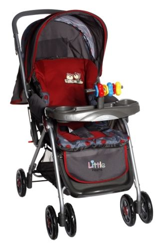 Little Hearts - Stroller (Red)