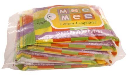 Mee Mee Baby Wet Wipes (Travel Pack), Lemon Fragrance