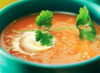 ... another delicious recipe for a healthy carrot and coriander soup