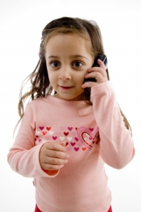 child talking on mobile